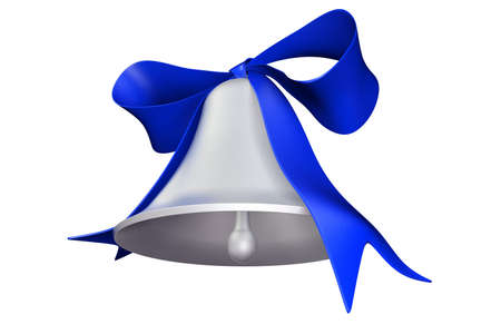 felicitate: Photorealistic 3D rendered bell and bow for holiday decorations Stock Photo