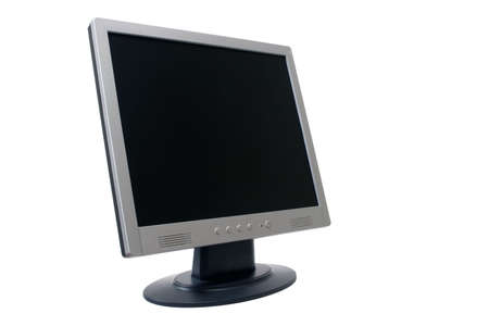 outputs: TFT monitor isolated over white background with clipping path