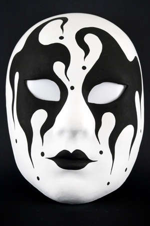 accesory: Black and white harlequin mask