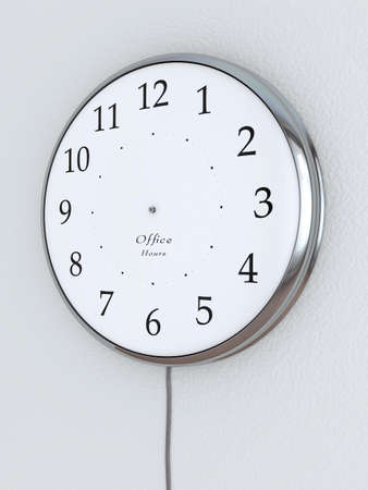 presure: Photorealistic 3D concept, a clock without the hour hands,