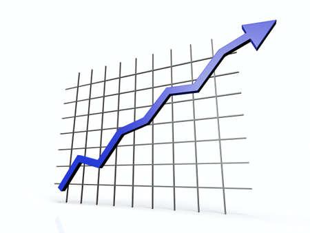 ascending: 3D ascending chart Stock Photo
