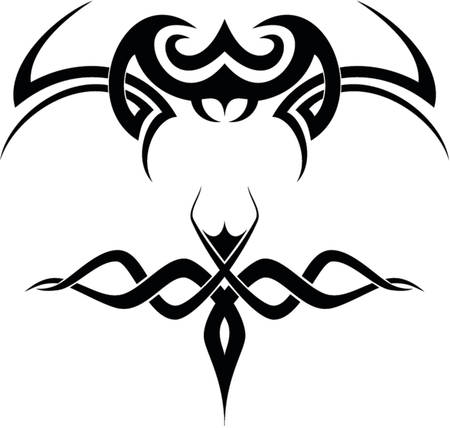decal: A set of 2 tribal tattoo vector shapes