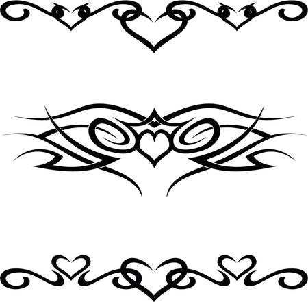 decal: A set of 3 tribal  vector shapes