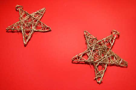 Christmas star decors Stock Photo