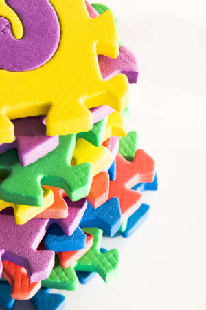 high contrast colorful foam