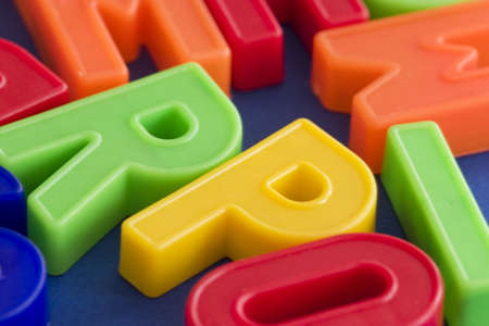 macro of toy letters Stock Photo