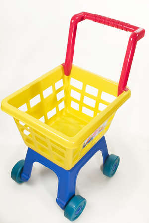 toy chariot on white view from above Stock Photo