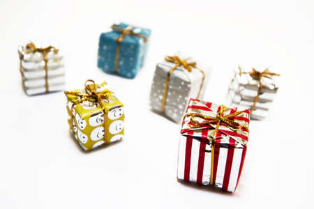 Christmas presents isolated on white