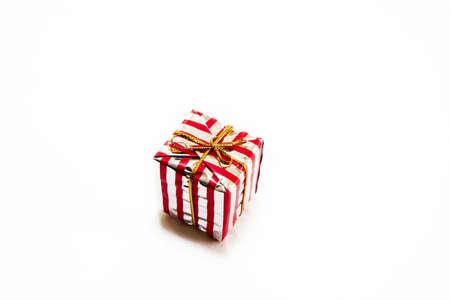Christmas present isolated Stock Photo