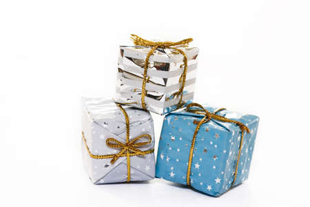 isolated Christmas packs