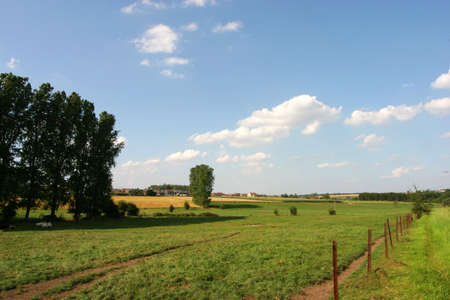 Belgian rural field Stock Photo