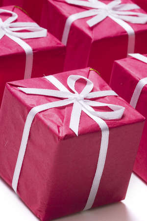 christmas presents in a row Stock Photo - 284783