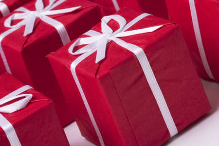 red Christmas presents Stock Photo - 284789