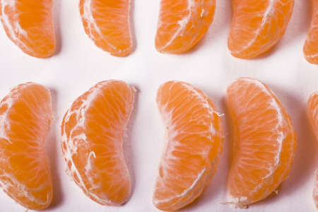 seasonal fruit in pieces over white Stock Photo