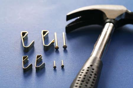 tools on blue background Stock Photo - 291151
