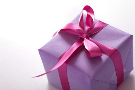 pink presents with ribbon Stock Photo