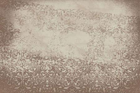 Grunge damask background