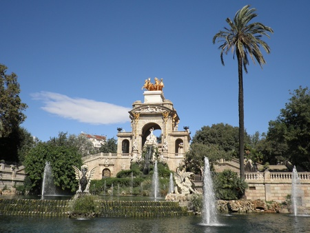 barcelona monument Stock Photo