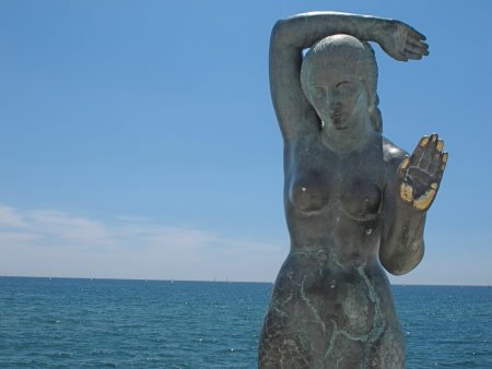sitges statue Stock Photo