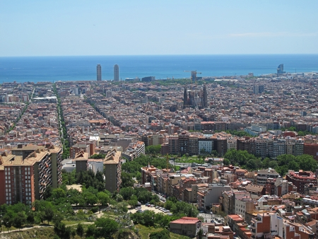 remoteness: view of barcelona
