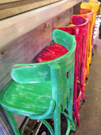 chairs: chairs colors Stock Photo