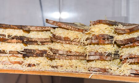 Toasted cheese sandwiches in the Kappacasein Dairy at Borough Market in London, UK