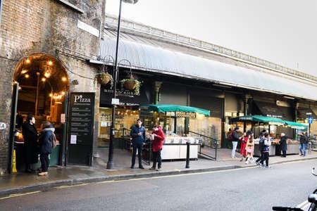 London, UK, 25th of January 2020: Borough Market in London