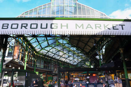 London, UK, 25th of January 2020: Borough Market in London Sajtókép