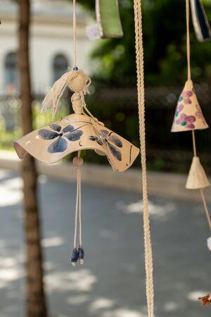 Ceramic handcrafted ballerina toy hanging Imagens