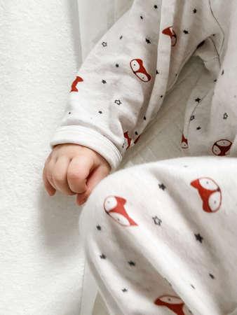 Small baby boy hands, cute closeup