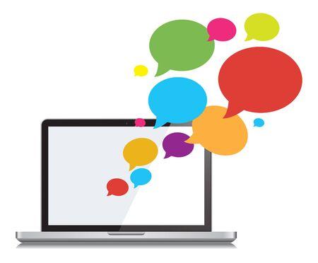 Chat Social Networking en Communicatie Ontwerp Illustratie.