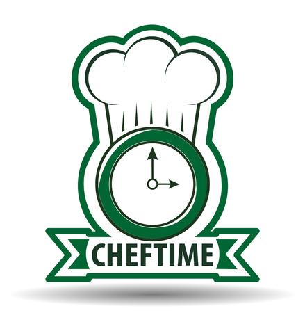 Chef Time Cook Premium Design Illustratie. Stock Illustratie