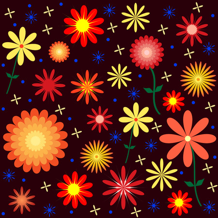 Floral Pattern Design Illustration.  Ilustracja