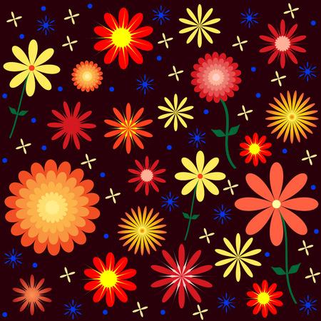 Floral Pattern Design Illustration.  Illustration