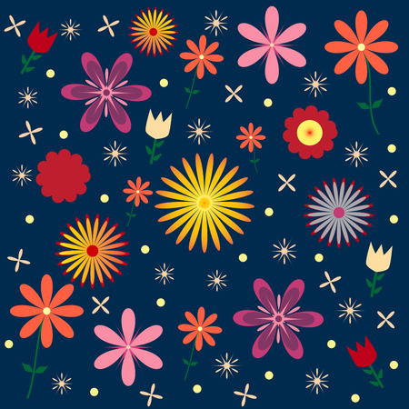 Floral Vector Pattern Seamless Design Illustration.