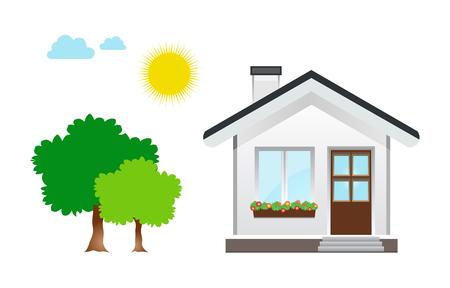 Huis pictogram ontwerp illustratie.