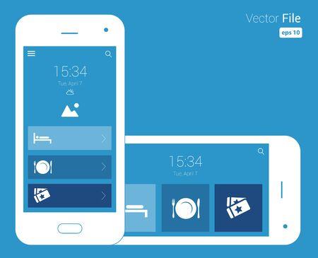 responsive design blueprint mobile wireframe design illustration.
