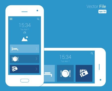 responsive design blueprint mobile wireframe design illustration. Vector