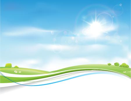 summer sky: Summer Sky Background Design Illustration.