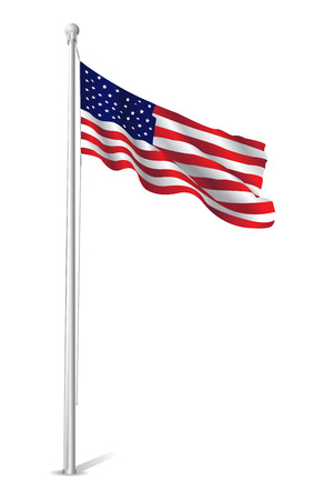 flag pole: USA Flag Design Illustration