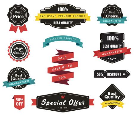 etiqueta: Vector conjunto de etiquetas, Banners Cintas y Adhesivos Vectores