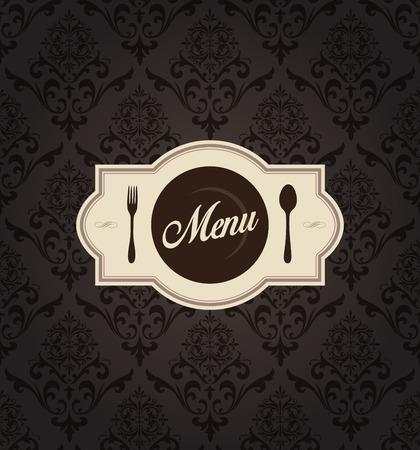 Deze afbeelding is een vector bestand wat neerkomt op een Vector Restaurant Menu Label met achtergrond.