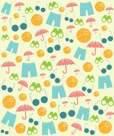 This image is a file representing a Summer Beach Symbols 版權商用圖片 - 41453538