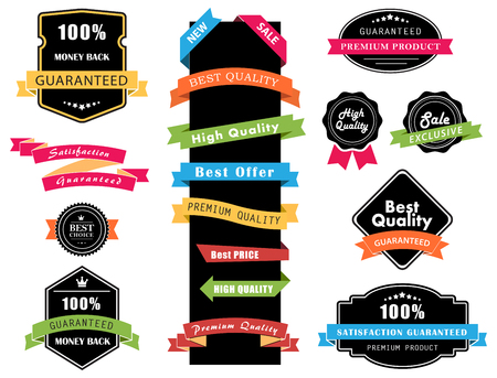 web design banner: This image is a vector file representing Labels, Banners and Stickers collection set.