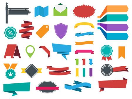 Deze afbeelding is een vector bestand wat neerkomt op etiketten, banners en Stickers collectie set. Stock Illustratie