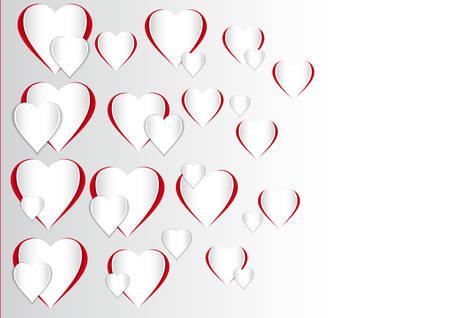 Deze afbeelding is een vector illustratie van een Valentijnsdag hart vorm. Stock Illustratie