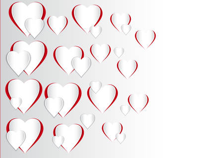 This image is a Vector Illustration of a Valentines Day Heart Shape.