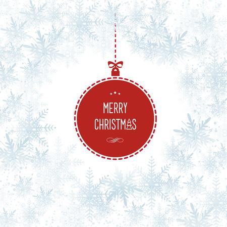 Dit beeld vertegenwoordigt een Snowflakes Kerst Hollyday Vector Achtergrond