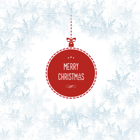 This image represents a Snowflakes Christmas Hollyday Vector Background Illustration