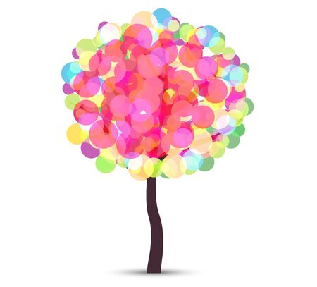 Vector file representing an abstract colorful tree.